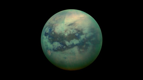 An image of Titan, moon for Saturn
